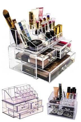 Meleni Home 2 Katlı Çekmeceli Makyaj Kozmetik Takı Düzenleyici Organizer