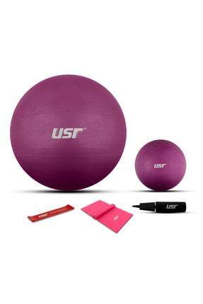 USR 652bm 25+65 Cm Pilates Topu + Pompa + 2 Lastik