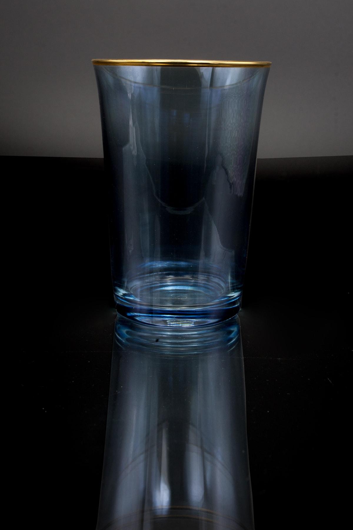 Paşabahçe 6 Parça Mavi Altın Su Bardağı 420022 1