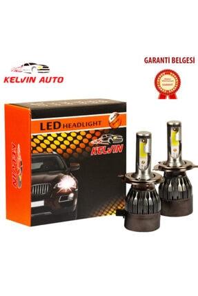 Kelvin Auto Kelvın H4 Led Xenon Far Ampul Şimşek Etkili Beyaz Güçlü Far