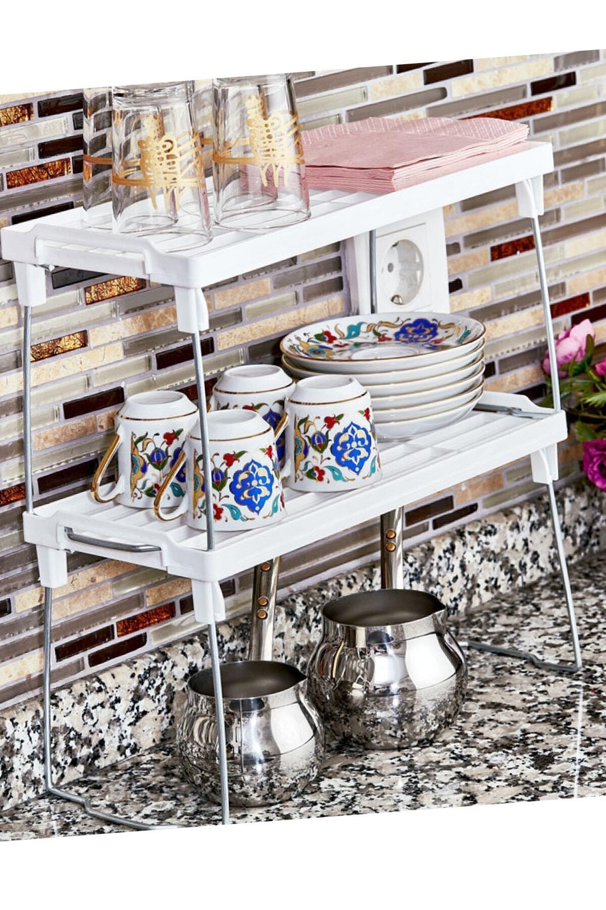 Nova Casa Dolap Içi Raf Düzenleyici Mutfak Masası Tezgah Üstü 2