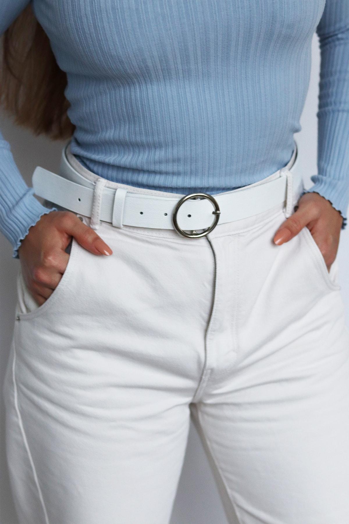 Freya Kadın Beyaz Pantolon Kemeri 1