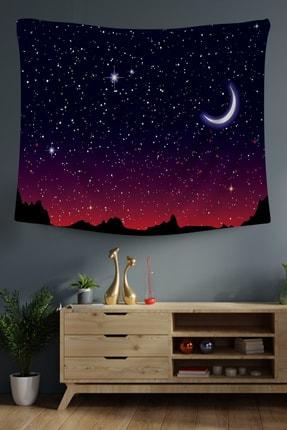 Hediyeler Kapında 100x100 Yıldızlar Dekoratif Duvar Örtüsü