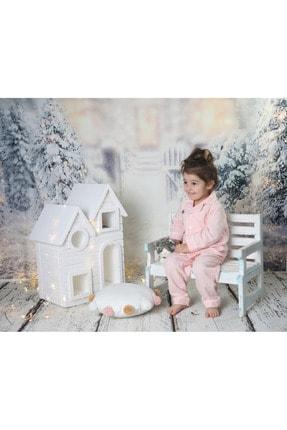 Ninna Kids Kız Çocuk Somon Pazen Pijama Takımı Nakışlı