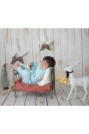 Ninna Kids Kız Çocuk Mint Pazen Pijama Takımı Nakışlı