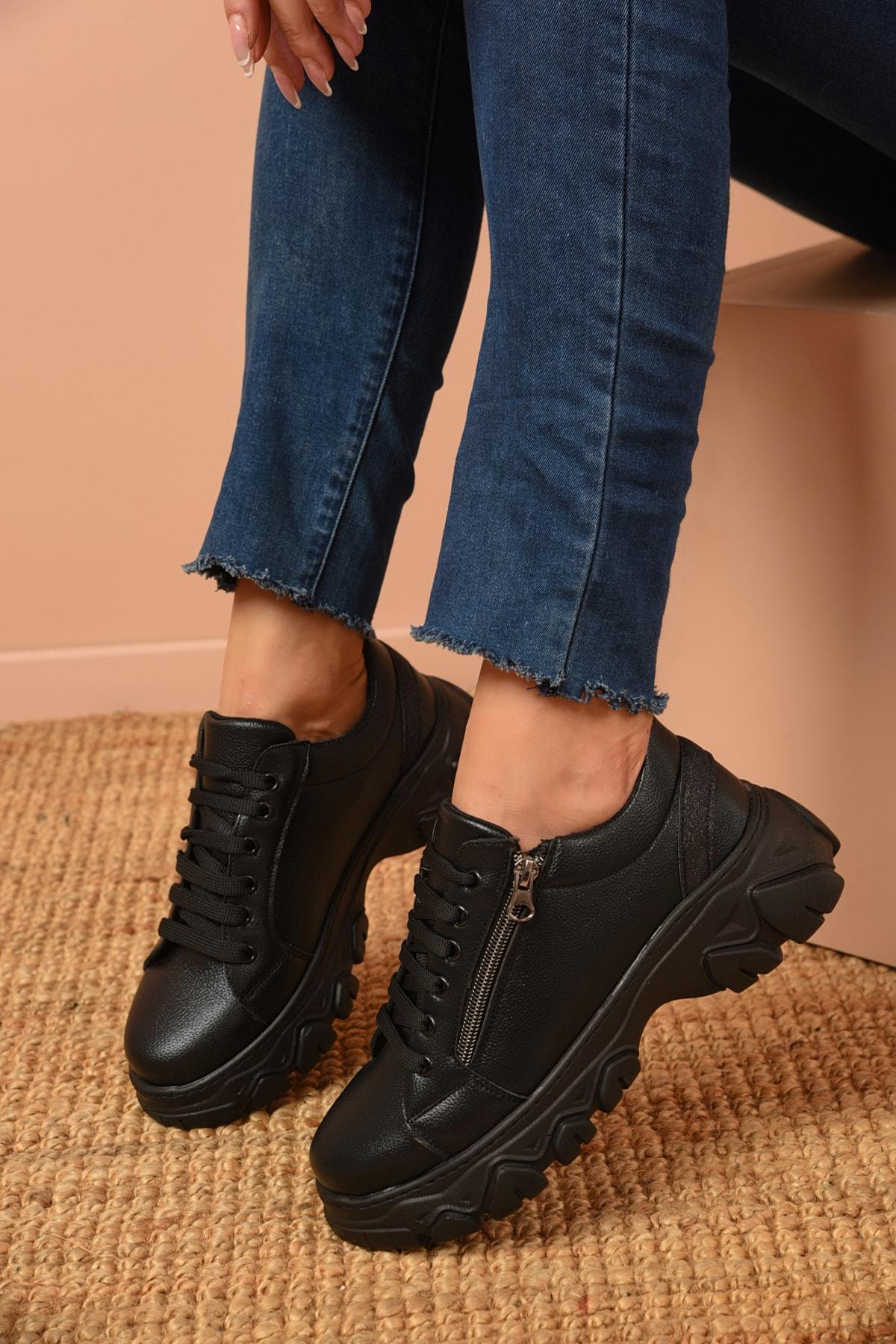 Shoes Time Kadın Siyah Günlük Ayakkabı 20k 177 2