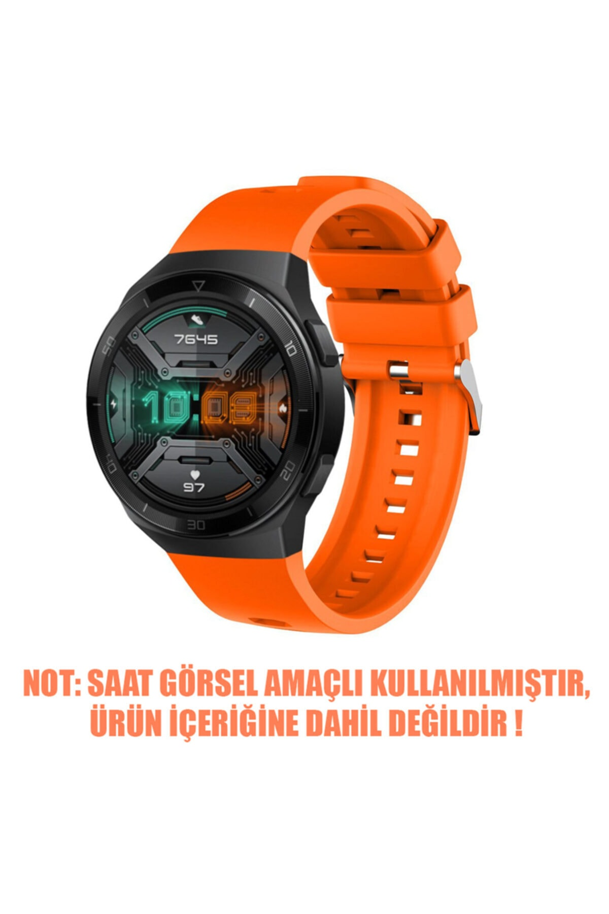 Microsonic Huawei Watch Gt2 Pro Kordon, Silicone Rapidbands Turuncu 2