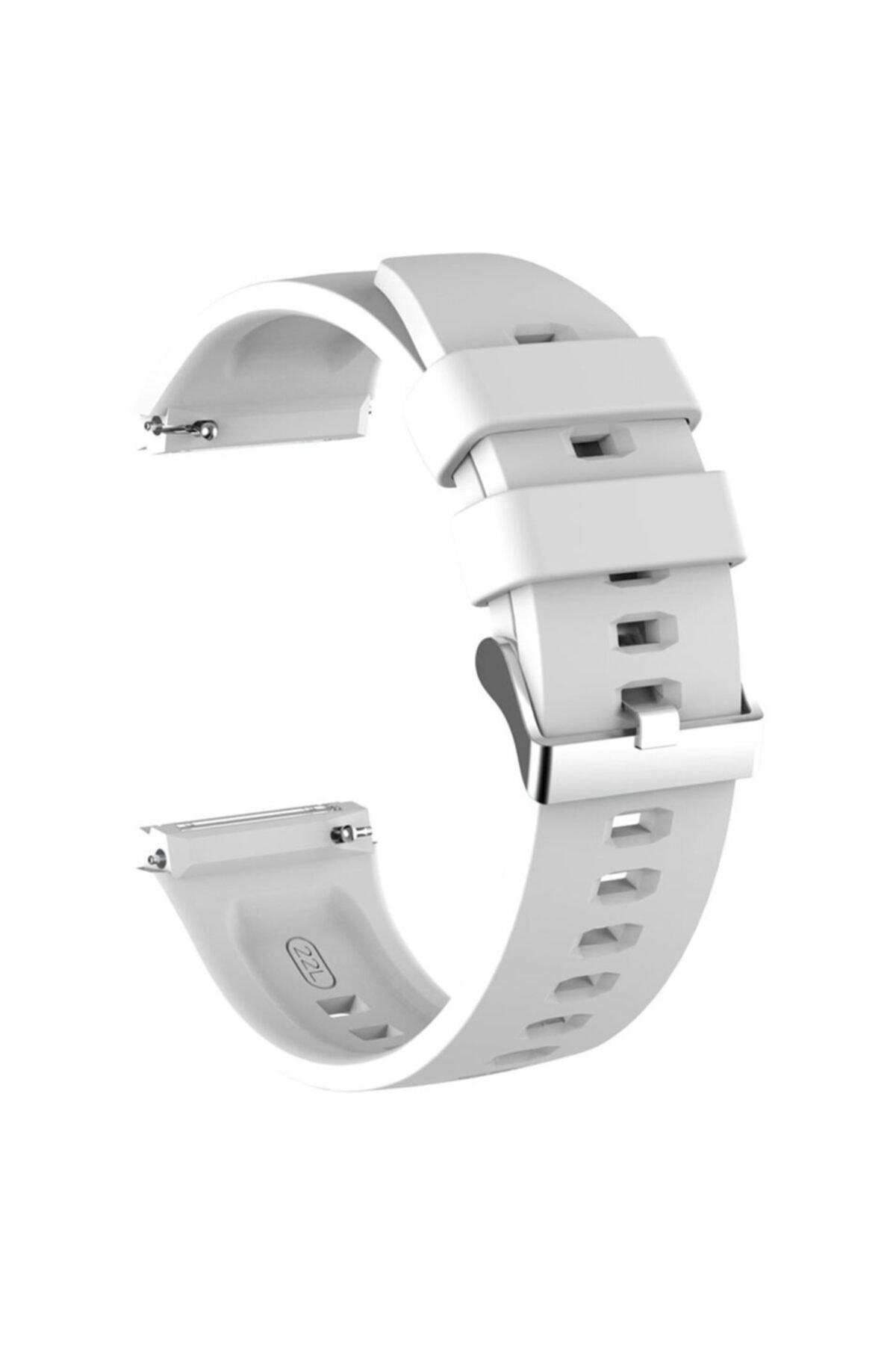 Microsonic Huawei Watch Gt2 Pro Kordon, Silicone Rapidbands Beyaz 1