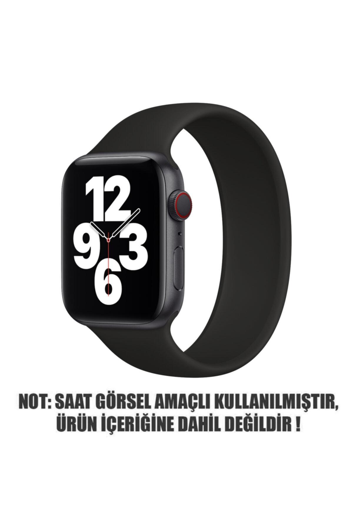 Microsonic Apple Watch Series 6 40mm Kordon, (small Size, 135mm) New Solo Loop Siyah 2