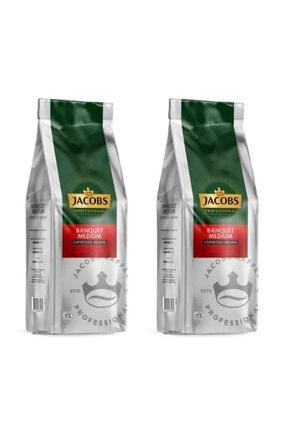 Jacobs Banquet Medium Espresso Beans Çekirdek Kahve 1000 Gr X 2 Paket