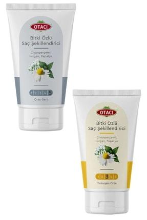 Otacı Bitkisel Saç Şekillendirici Orta-sert + Yumuşak-orta Set