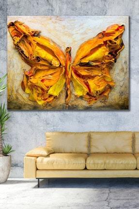 Hediyeler Kapında 100x140 Yağlı Boya Görünümlü Kelebek Kanvas Tablo