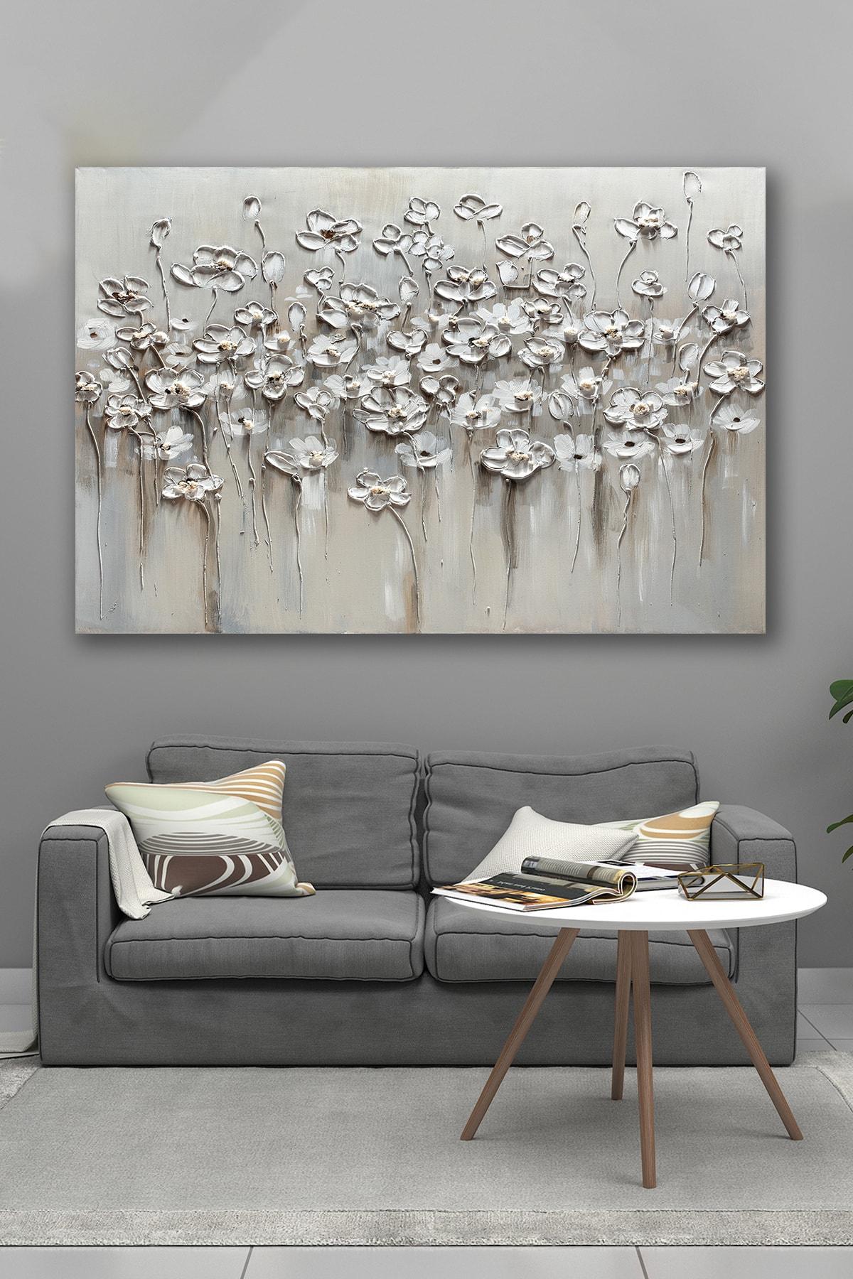 Hediyeler Kapında 100x140 Soğuk Çiçekler Kanvas Tablo 1