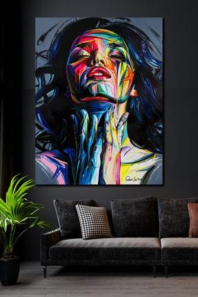 Hediyeler Kapında 90x130 Woman & Art Kanvas Tablo