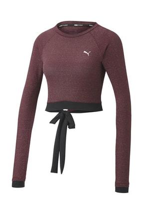 Puma Kadın Spor Sweatshirt - Studio Metallic LS - 51951502