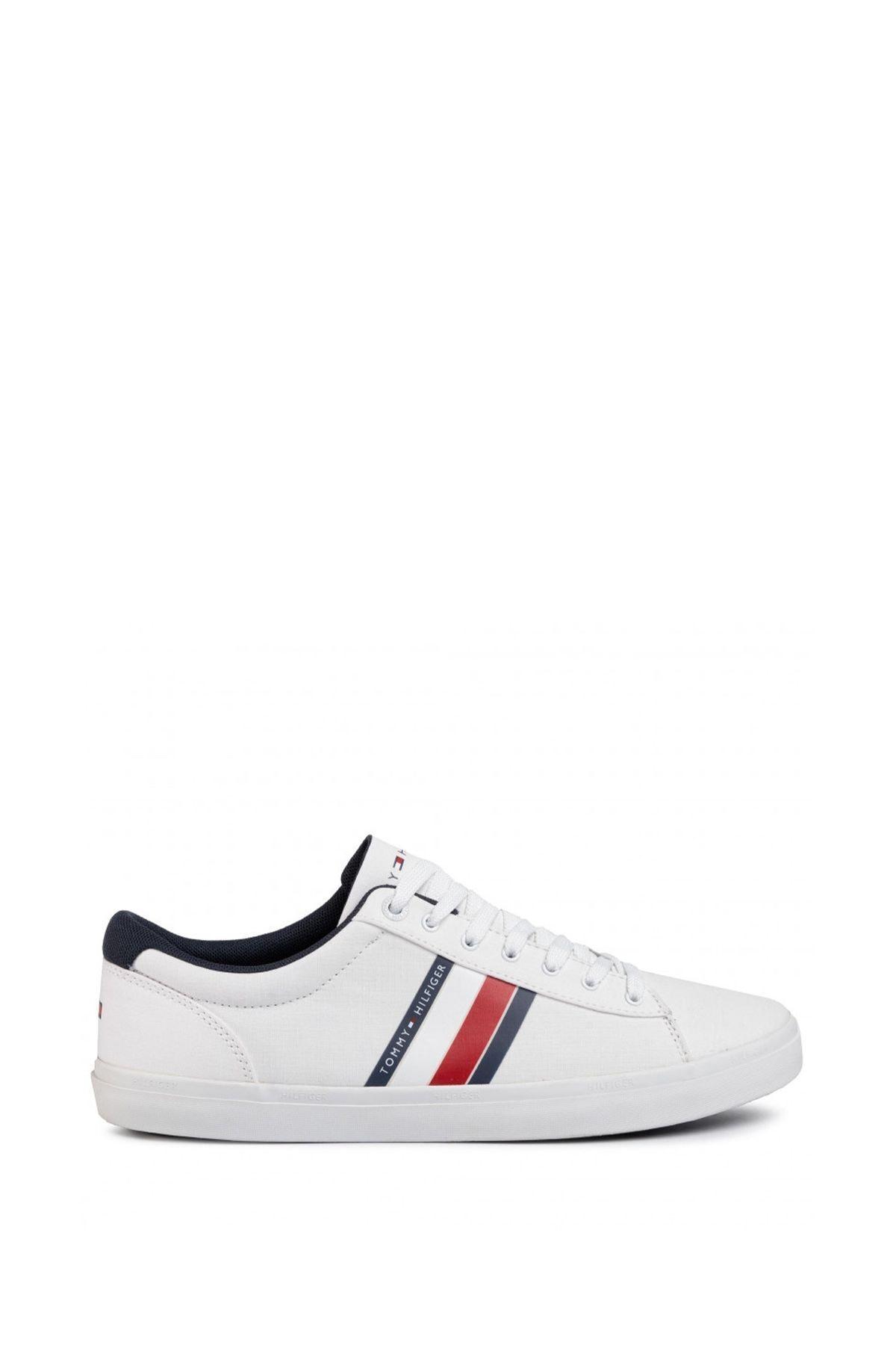 Tommy Hilfiger Erkek Beyaz Sneaker Fm0fm02685 2
