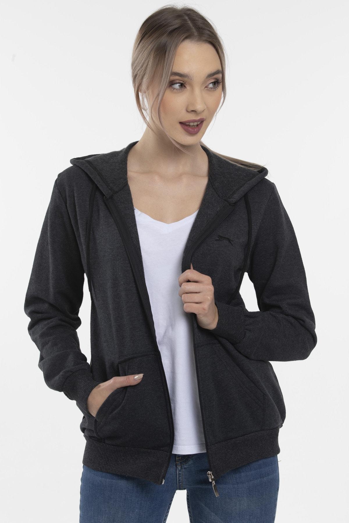 Slazenger SANTO Kadın Sweatshirt K.Gri ST20WK040 1