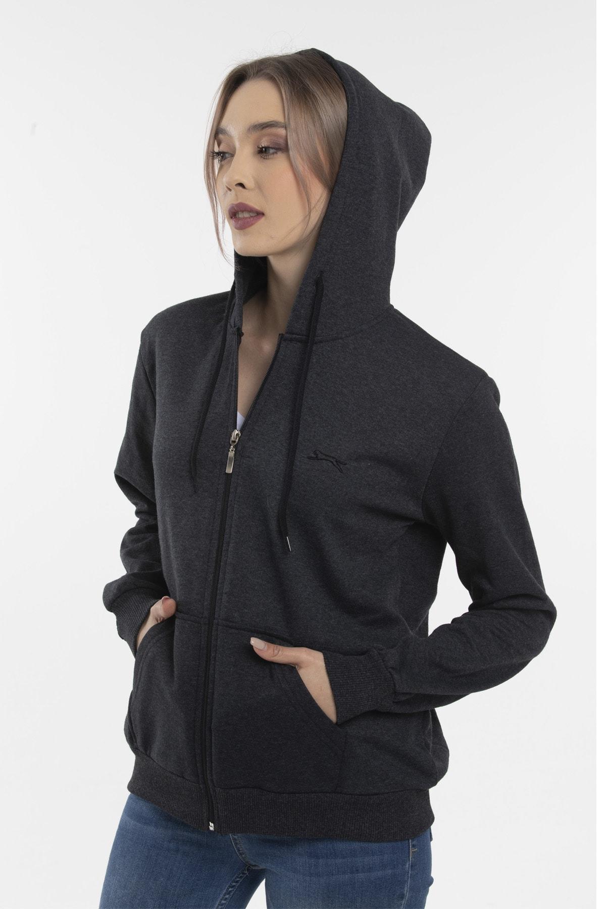 Slazenger SANTO Kadın Sweatshirt K.Gri ST20WK040 2