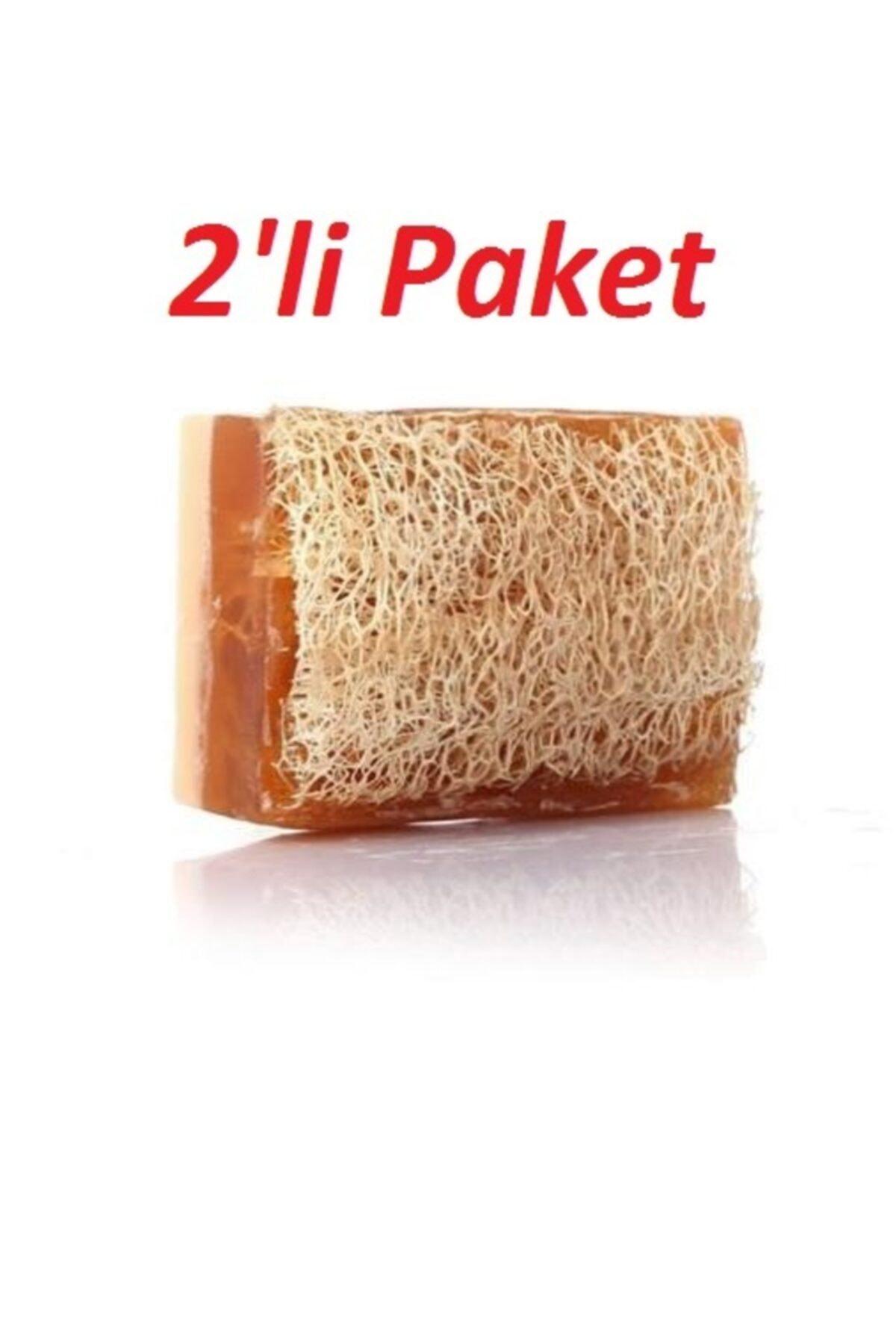 MS SHOP %100 El Yapımı Doğal Kabak Lifli Ballı Eşek Sütü Sabunu 2'li Paket 120 gr.x 2 Adet 1