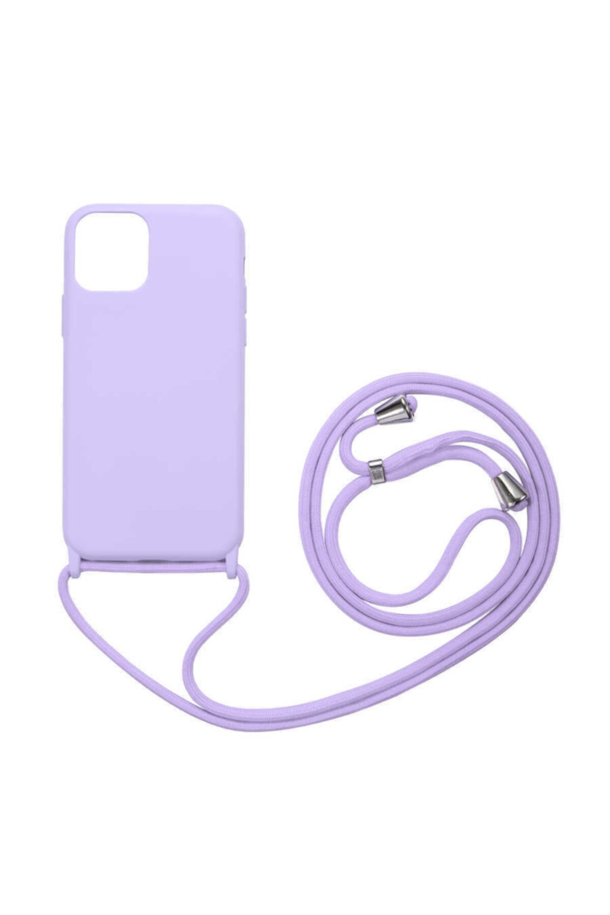 Fibaks Apple Iphone 11 Kılıf Ipli Boyun Askılı Içi Kadife Lansman Yumuşak Silikon 1