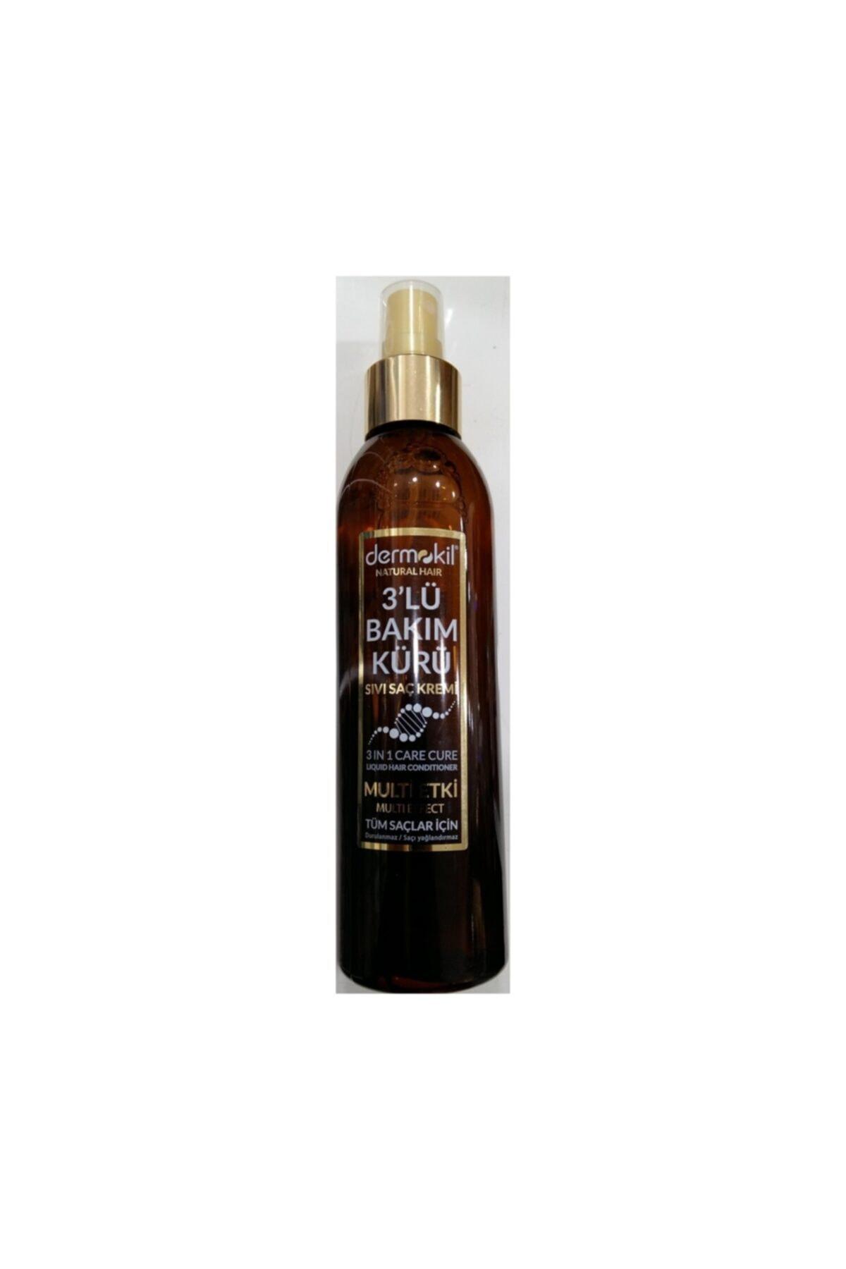 Dermokil Sıvı Saç Kremi Natural Haır 3 Lü Bakım Kürü 200 Ml 1