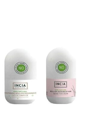 Incia Doğal Roll-on Deodorant Beyazlatıcı + Sensitive 2 Li Set