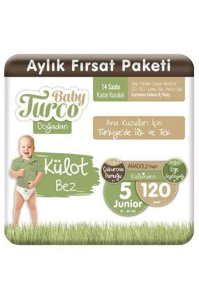Baby Turco Doğadan Külot Bez 5 Numara Junıor 120 Adet