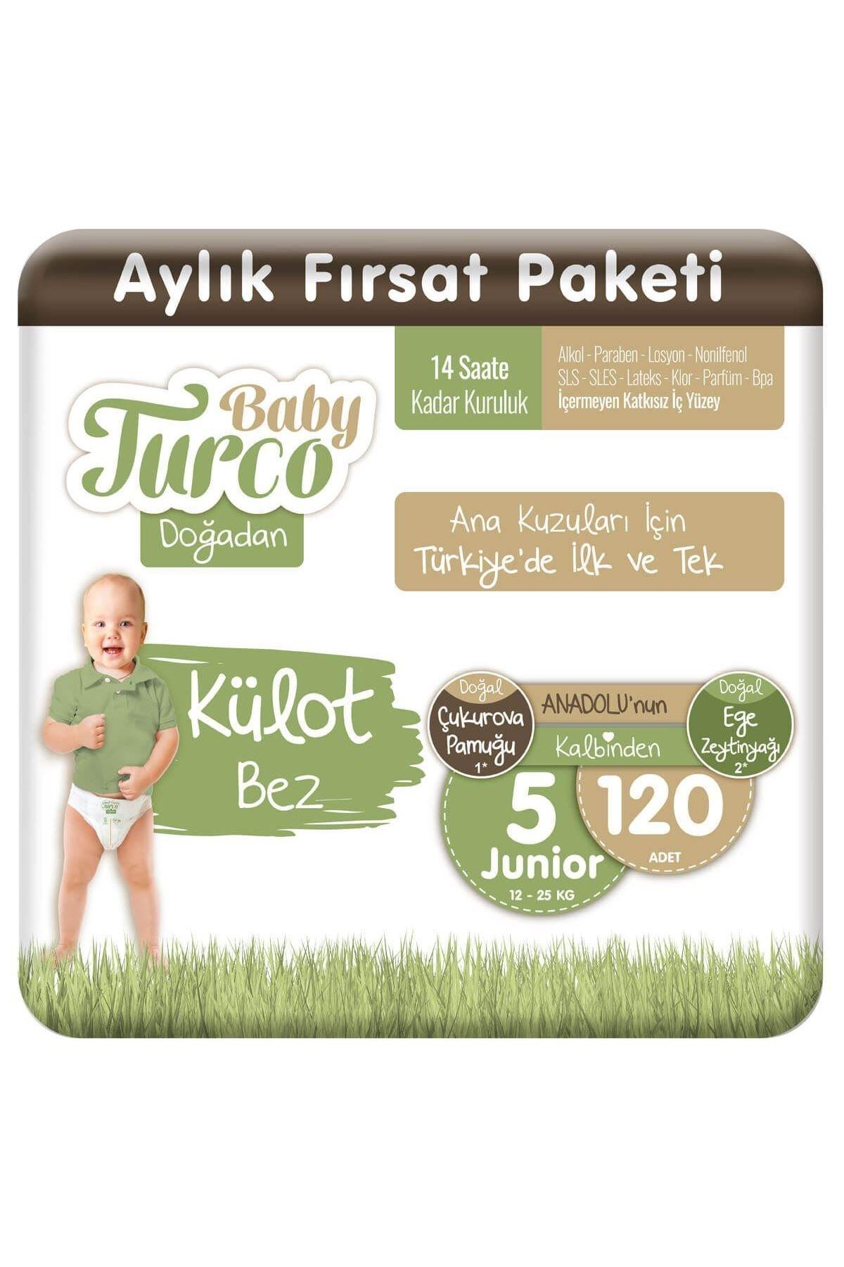 Baby Turco Doğadan Külot Bez 5 Numara Junıor 120 Adet 1