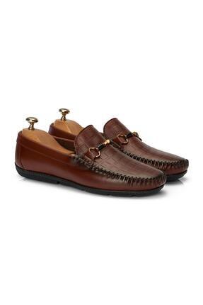 MUGGO Erkek Kahverengi Loafer Ayakkabı