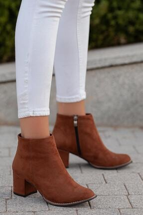 MUGGO Kadın Kahverengi Topuklu Bot Gzhhw715