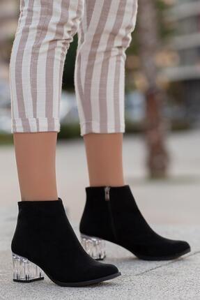 MUGGO Kadın Siyah Topuklu Bot Gzhhw713