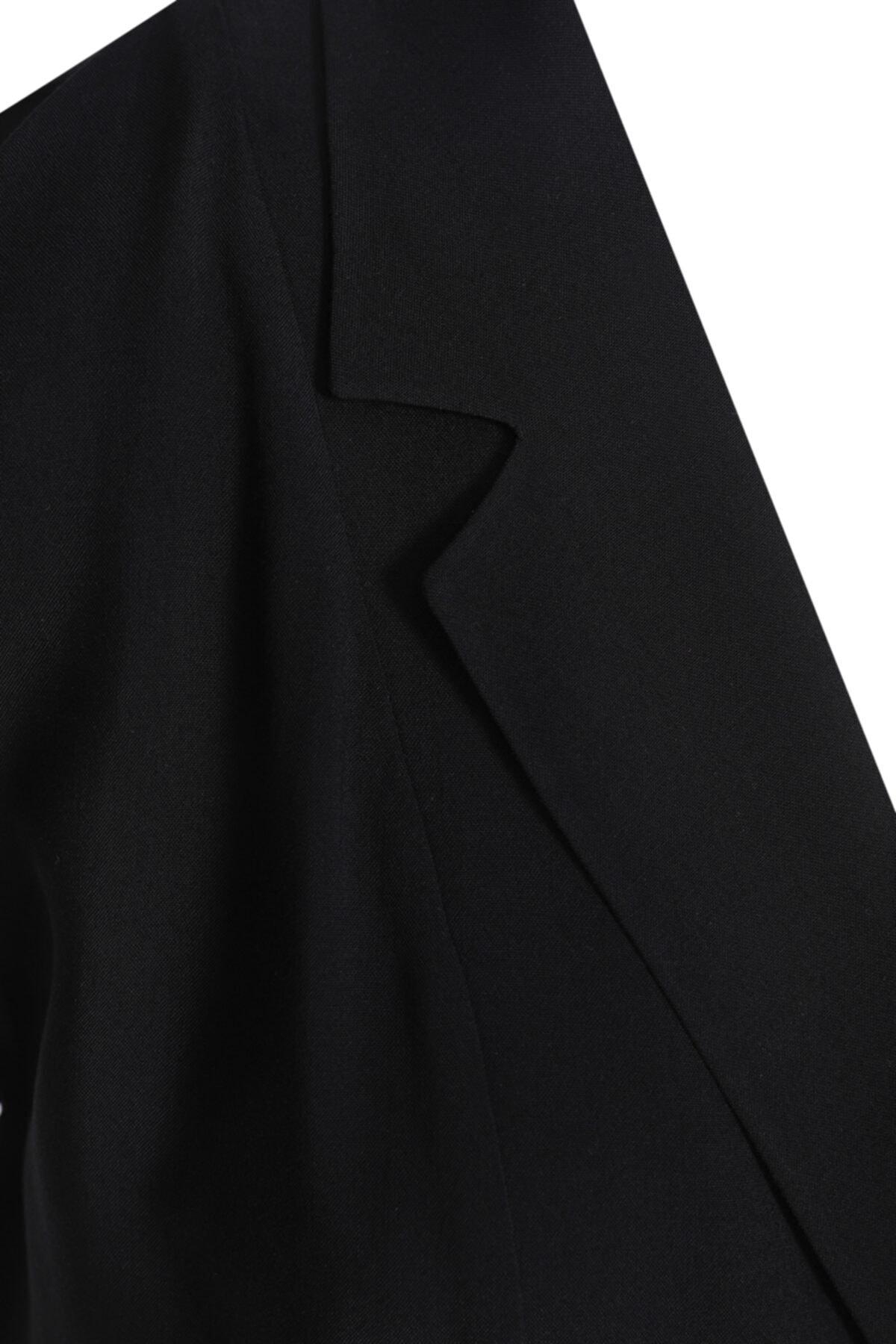 W Collection Siyah Anvelop Kolsuz Bluz 2