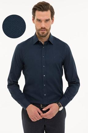 Pierre Cardin Erkek Lacivert Slim Fit Oxford Gömlek