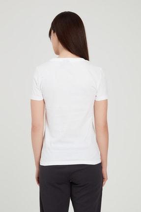 adidas W Mh Foil Tee Kadın Beyaz Tişört Ed6169