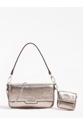 Guess Kadın Gümüş Rengi Çapraz Çanta