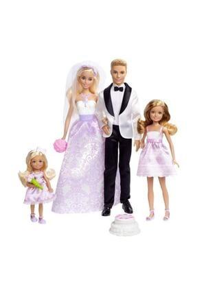 Barbie Ken Gelin Damat Kız Kardeşler Düğün Seti Oyuncak