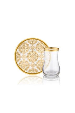 BİEV  Gold Otantik Çay Takımı 12 Parça