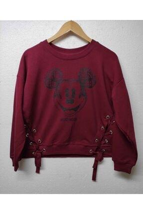 Disney Store Kadın Bordo Disney Sweatshirt