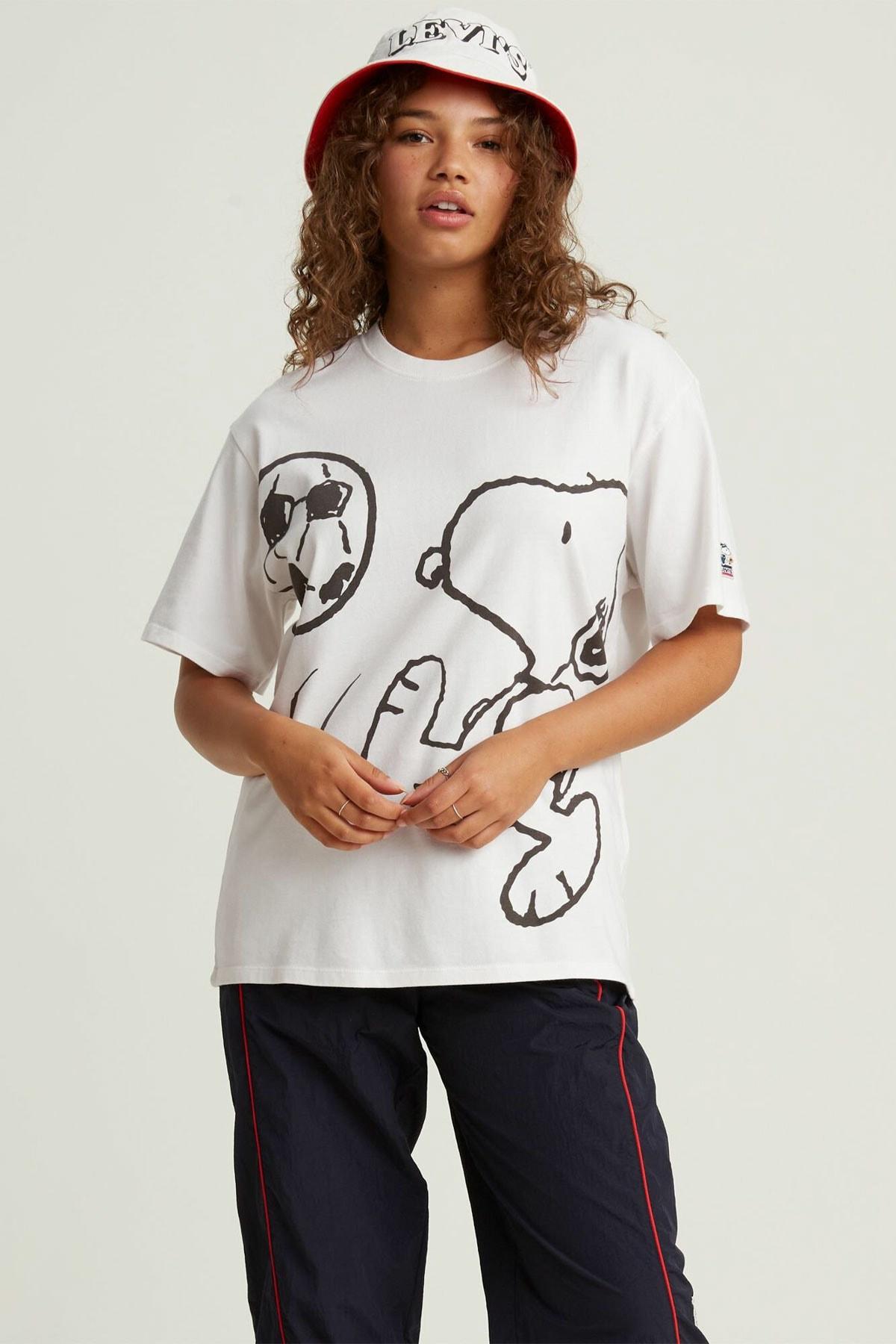 Levi's Kadın Beyaz Oversize T-Shirt 56152-0003 1