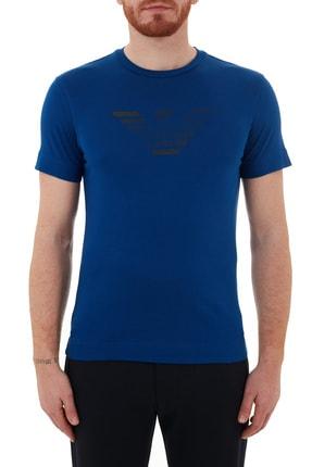 Emporio Armani Baskılı Bisiklet Yaka % 100 Pamuk T Shirt Erkek T Shirt 3k1te6 1jshz 0921