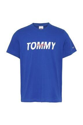 Tommy Hilfiger Erkek Mavi T-Shirt Tjm Layered Graphıc Tee DM0DM09481