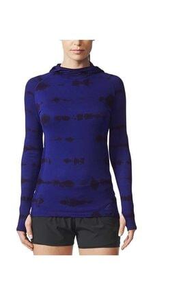 adidas Kadın Koşu Tişörtü Mor Pknit Ls Ef W BQ9392