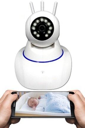 Mobee 3 Antenli Full Hd Wifi Kablosuz Ip Güvenlik Bebek Kamerası Hareketli Bebek Odası Kamera