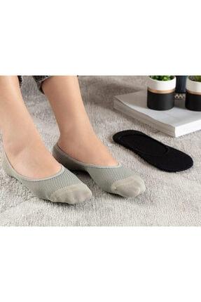 English Home Eldora Polyamid 2'li Kadın Babet Çorap Siyah- Gri