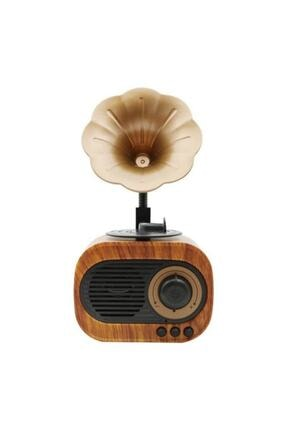 TeknoNow B5 Nostaljik Mini Gramafon Radyo Usb Aux Bluetooth Radyo Yüksek Ses Kalitesi