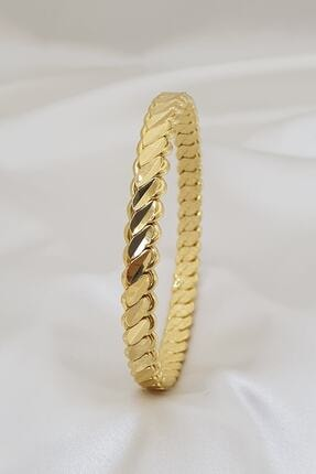 Bijoux Gold 22 Ayar Altın Kaplama 10mm Burma Bilezik