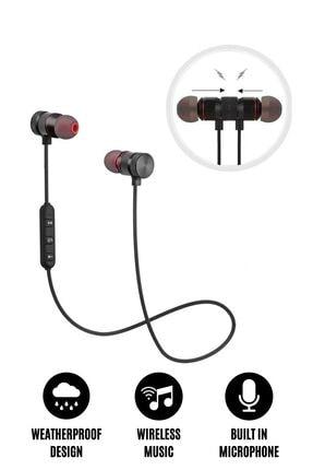 Noriyen Çift Cihaza Bağlanabilen Mikrofonlu Bluetooth Kulak Içi Boyun Askılı Kablolu Sporcu Kulaklığı