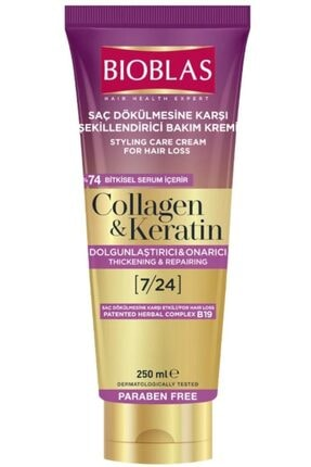 Bioblas Saç Dökülmesine Karşı Şekillendirici Bakım Kremi 250 ml Collagen - Keratin