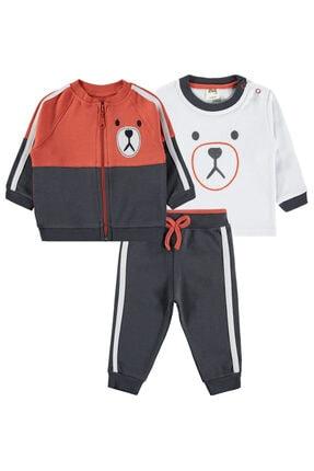 Civil Baby Erkek Bebek 3'lü Takım 6-18 Ay Kiremit