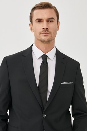 ALTINYILDIZ CLASSICS Erkek Siyah Regular Fit 4 Drop Takım Elbise